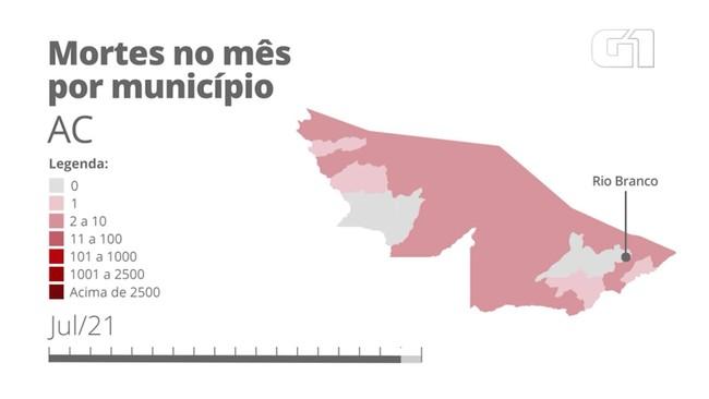 AC: mortes por Covid por município mês a mês