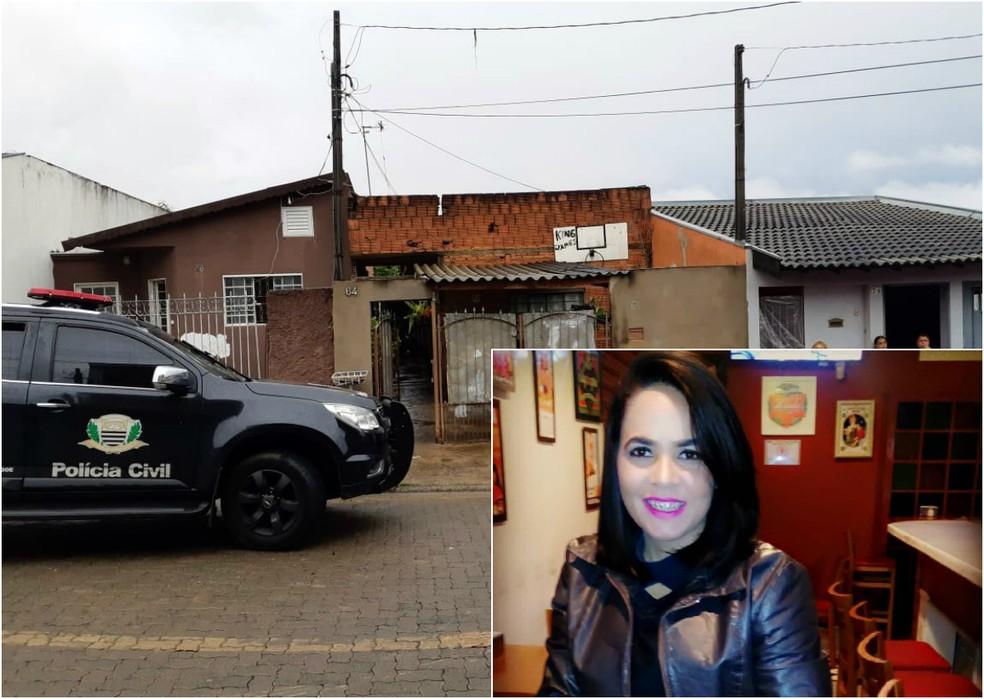 Mulher foi morta a tiros dentro de casa em São Carlos — Foto: Rodrigo Facundes/EPTV