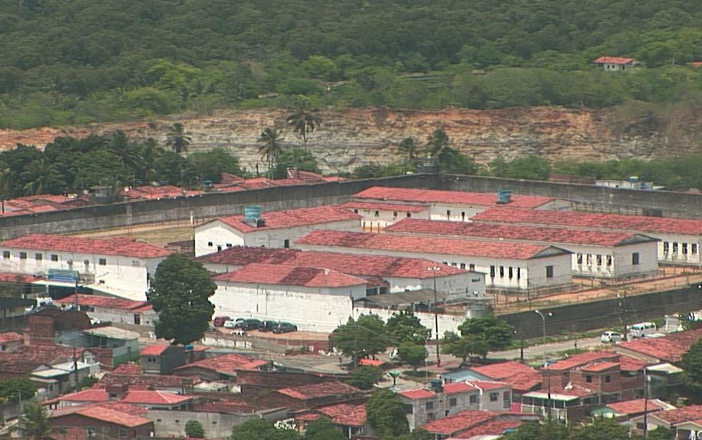 Penitenciária Flósculo da Nóbrega, o presídio do Roger, em João Pessoa (Foto: Reprodução / TV Cabo Branco)