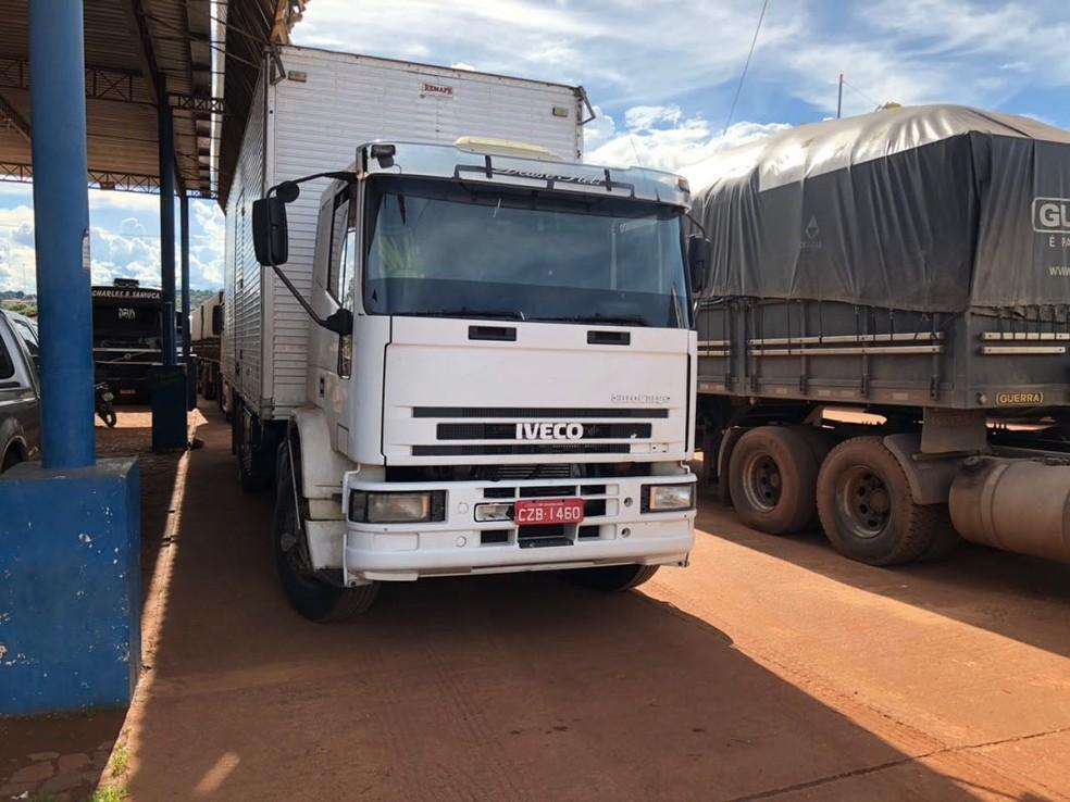 Caminhão apreendido por sonegação do ICMS no Maranhão  (Foto: Divulgação/SEFAZ)
