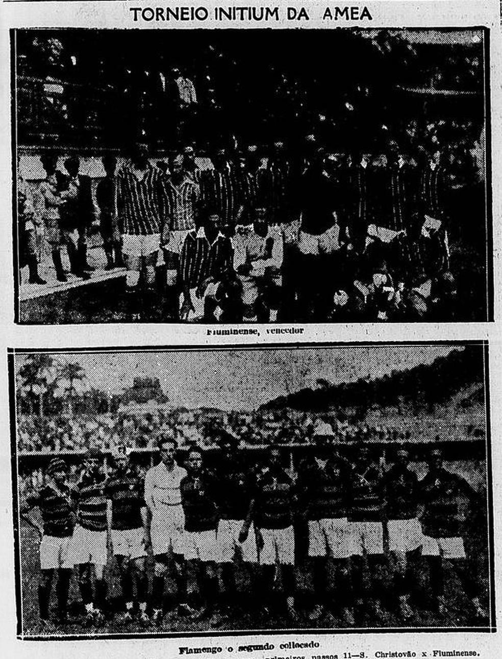 """Jornal """"O Imparcial"""" registra o Torneio Inicio do Flu em 29/04/1924 — Foto: Reprodução / O Imparcial"""