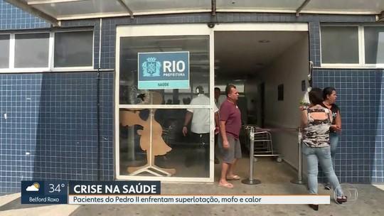 Pacientes do Hospital Pedro II, em Santa Cruz, sofrem com superlotação e calor