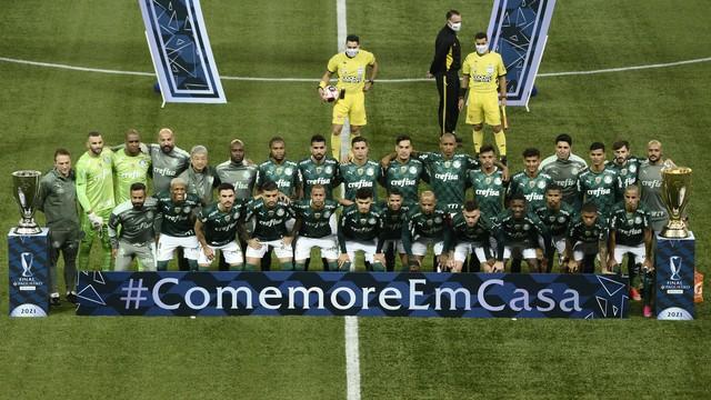 Time do Palmeiras na final do Paulistão 2021