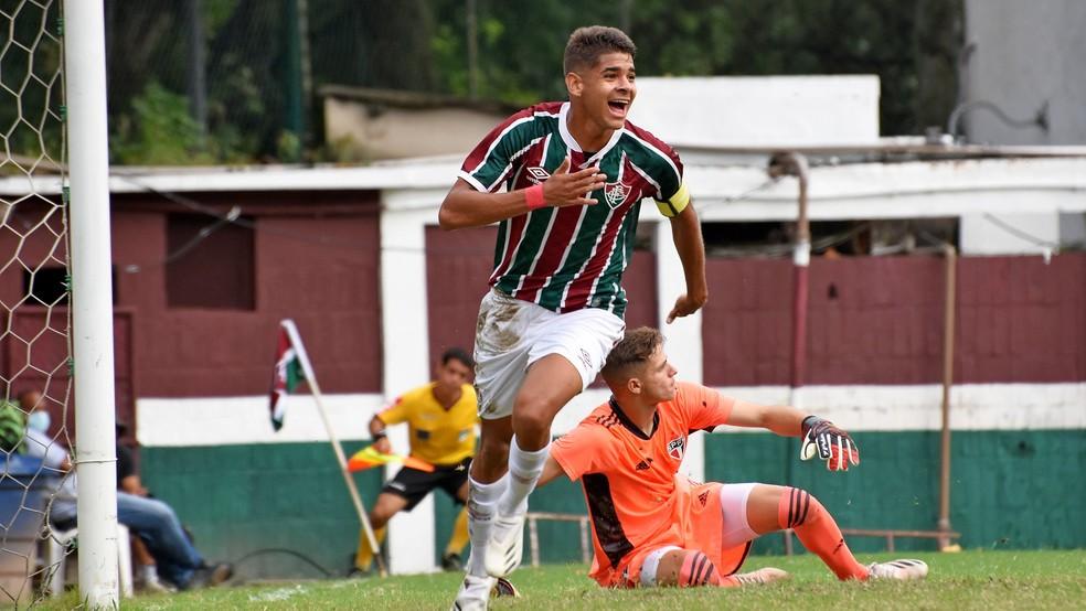 João Neto marcou nove gols na campanha do título brasileiro sub-17 — Foto: Mailson Santana / Fluminense FC