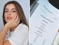 Camila Queiroz mostra roteiro de 'Verdades Secretas 2'