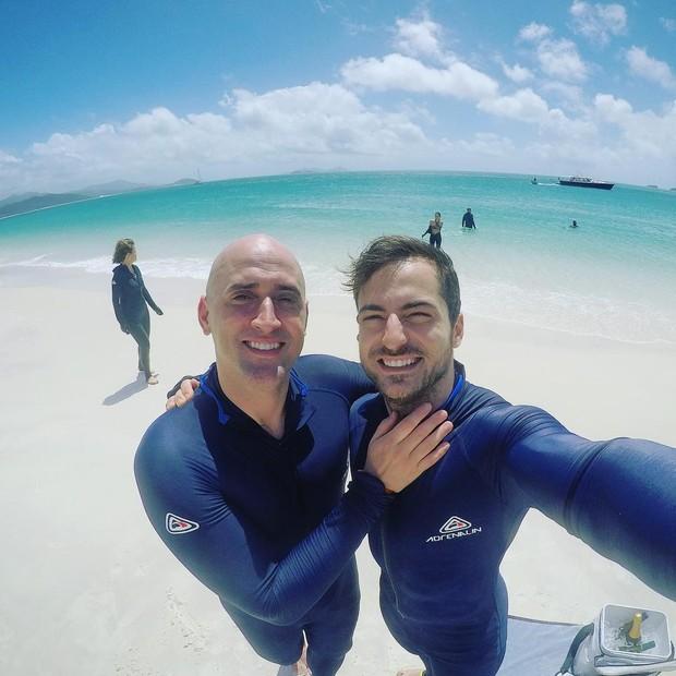 Paulo Gustavo e o marido, Thales Breta (Foto: Reprodução)