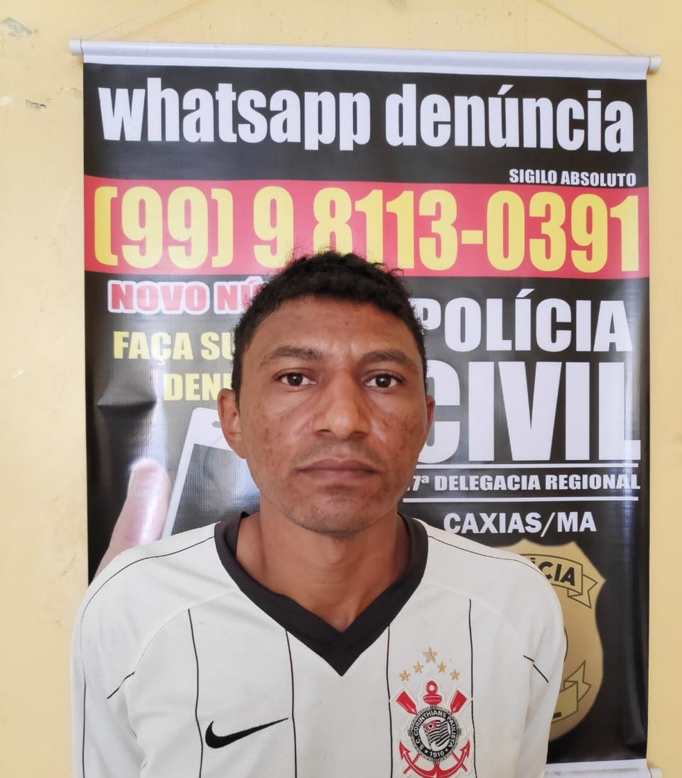 Roberto Bastos Vaz foi encaminhado para a Delegacia Regional de Caxias onde ele ficará à disposição da Justiça — Foto: Divulgação/Polícia