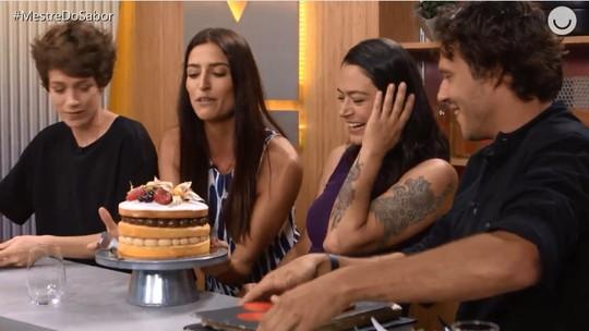 'Mestre do Sabor': Janete Borges é eliminada e ganha bolo de aniversário no 'Fora da Cozinha'