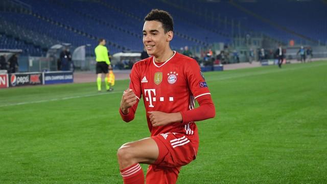 Jovem Musiala, de 17 anos, foi um dos destaques do Bayern de Munique contra a Lazio