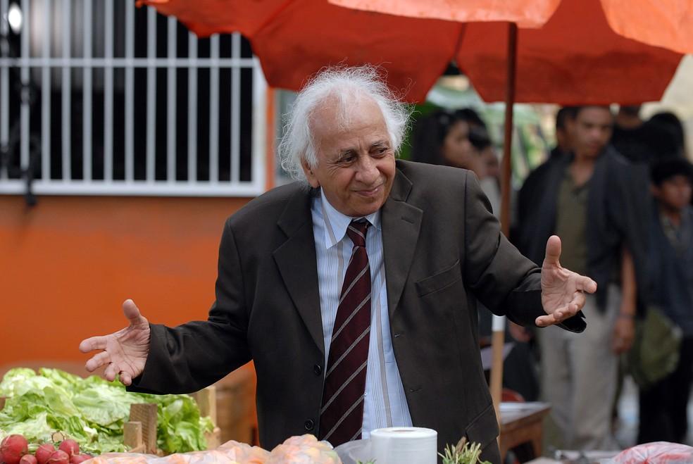 Flavio Migliaccio em cena de 'Passione' — Foto: Globo/Alex Carvalho