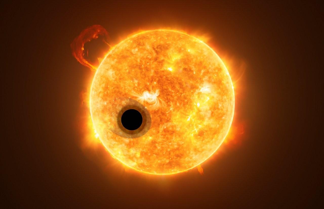 Exoplaneta WASP-107b fica a cerca de 200 anos-luz da Terra e completa uma órbita em menos de seis dias (Foto: ESA/Hubble, NASA, M. Kornmesser)