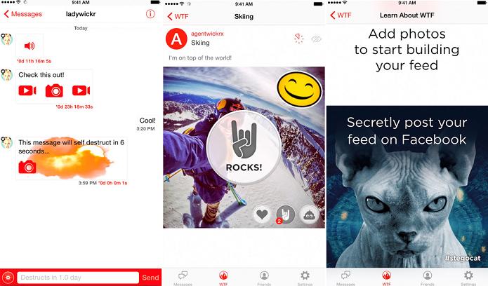 WTF é o novo recurso do Wickr para iOS (Foto: Divulgação)