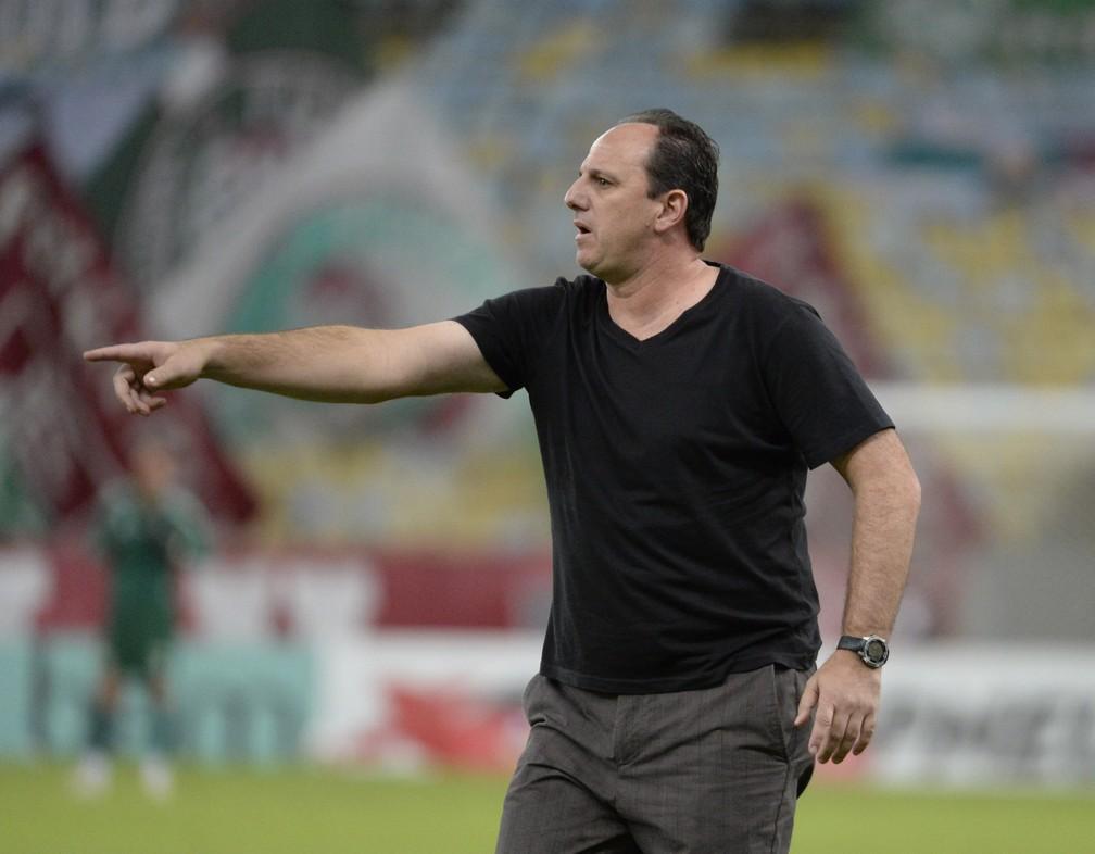 Rogério Ceni, técnico do Flamengo — Foto: André Durão