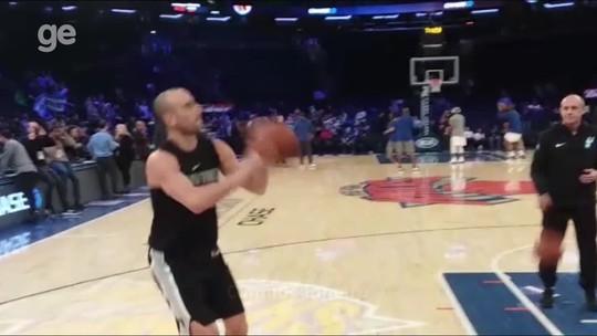 """Ginobili exaltado, """"velho"""" Leonard de volta: Spurs miram 21º playoff seguido"""