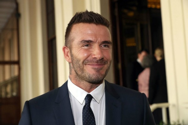 David Beckham em evento no Palácio de Buckingham (Foto: Getty Images)