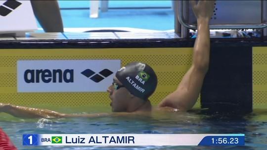 Luiz Altamir chega em 1º B na final dos 200m borboleta do Pan-Pacífico