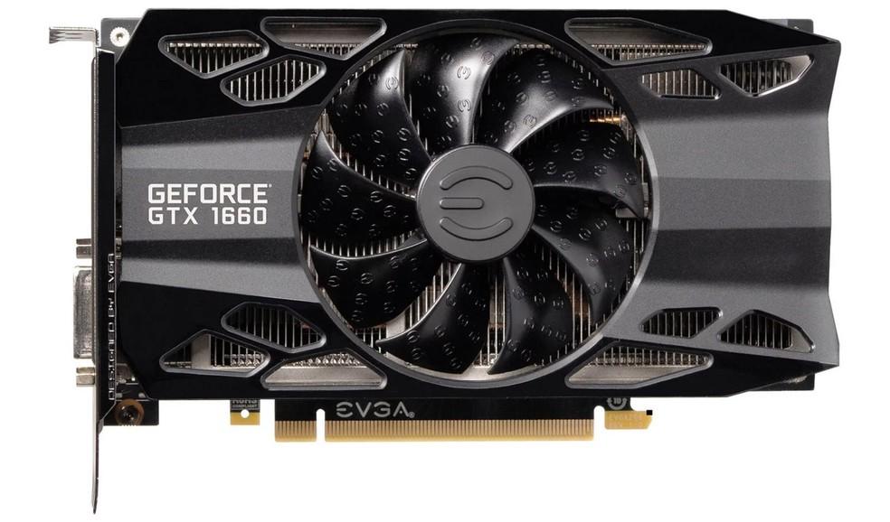 GTX 1660 é a nova Geforce de entrada para jogar em Full HD — Foto: Divulgação/EVGA