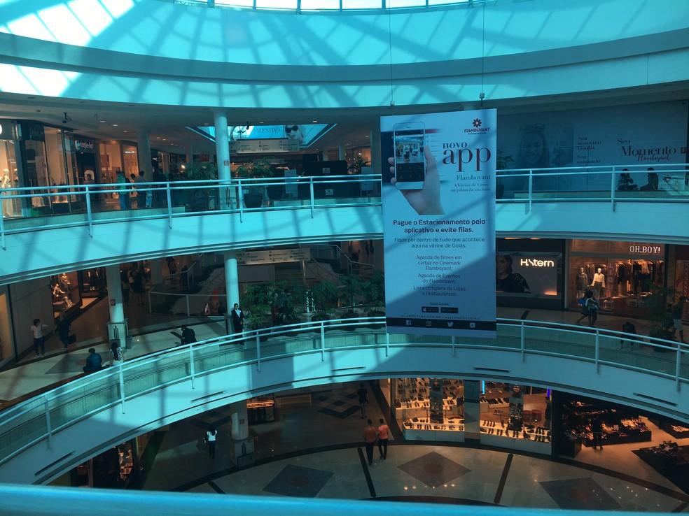 Shopping Flamboyant no Jardim Goiás, em Goiânia, Goiás — Foto: Vanessa Chaves/G1
