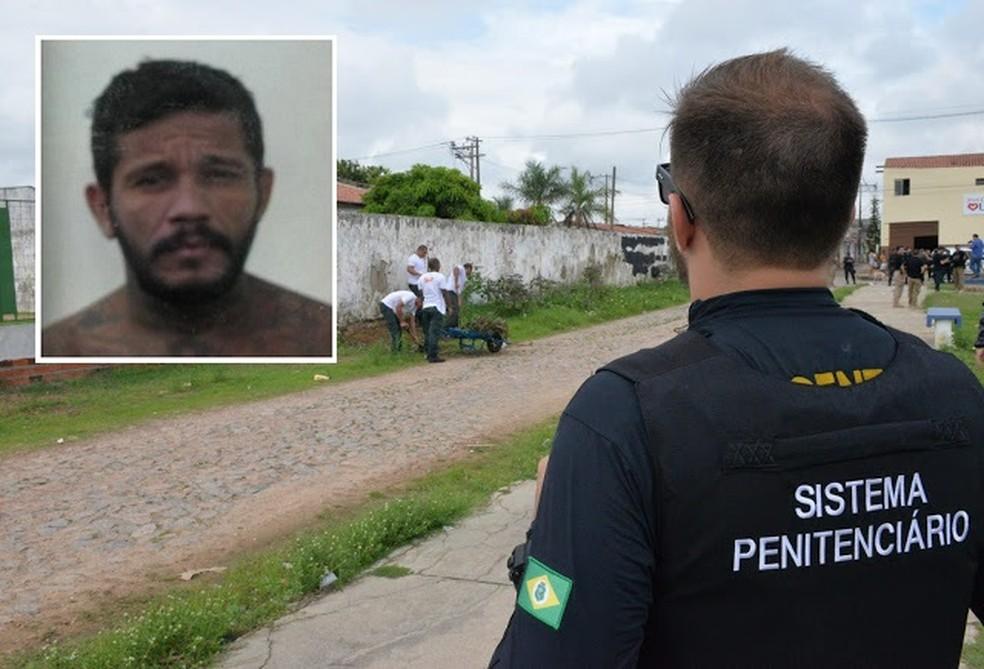 Detento foge durante serviço de capinagem no Ceará — Foto: SAP/Divulgação
