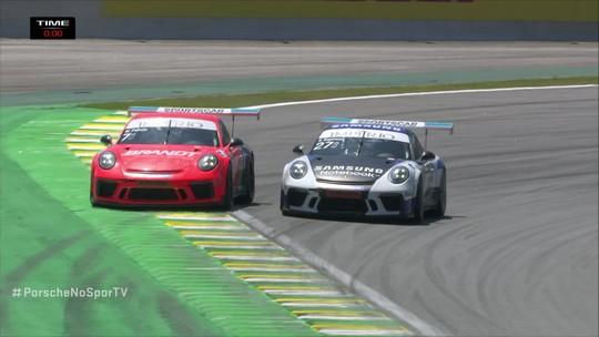 Última volta da Porsche Carrera Cut 4.0 na etapa de Interlagos, 17 de Novembro.