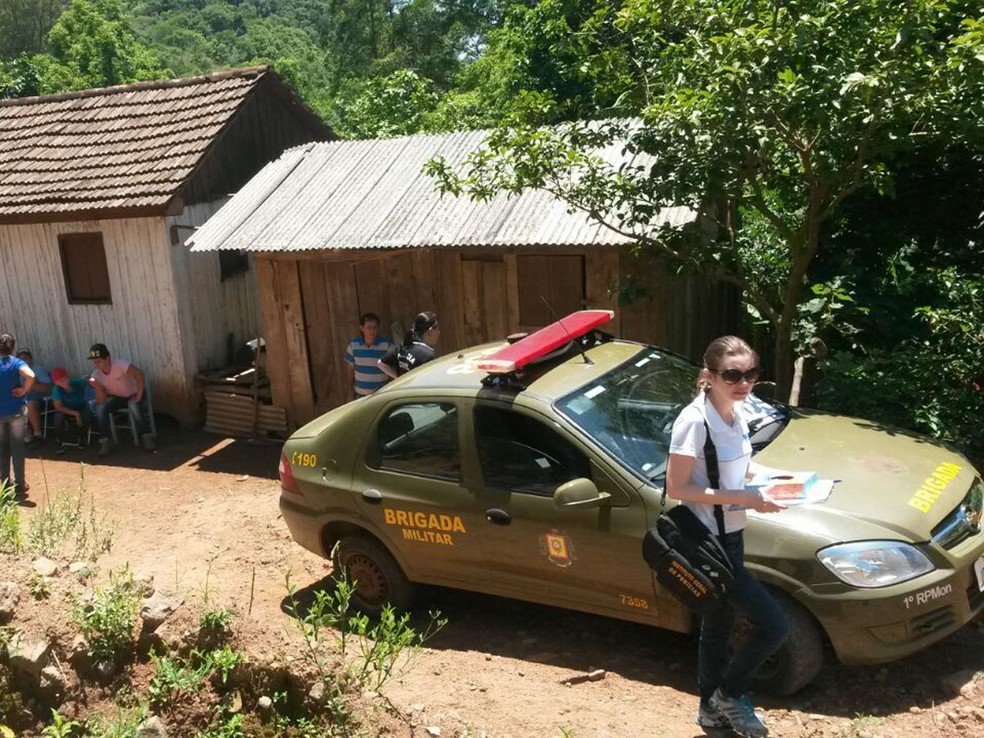 Os crimes chocaram a pequena cidade de Pinhal Grande, a cerca de 300 km de Porto Alegre, em 2016. (Foto: Vanessa Backes/RBS TV)