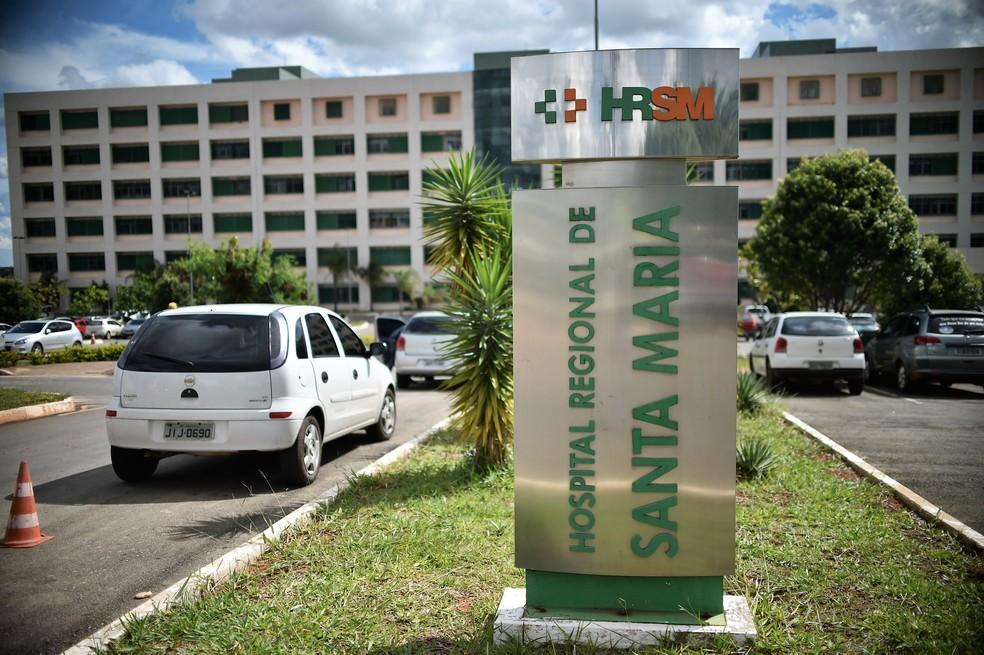 Fachada do Hospital Regional de Santa Maria, no Distrito Federal  — Foto: André Borges/Agência Brasília