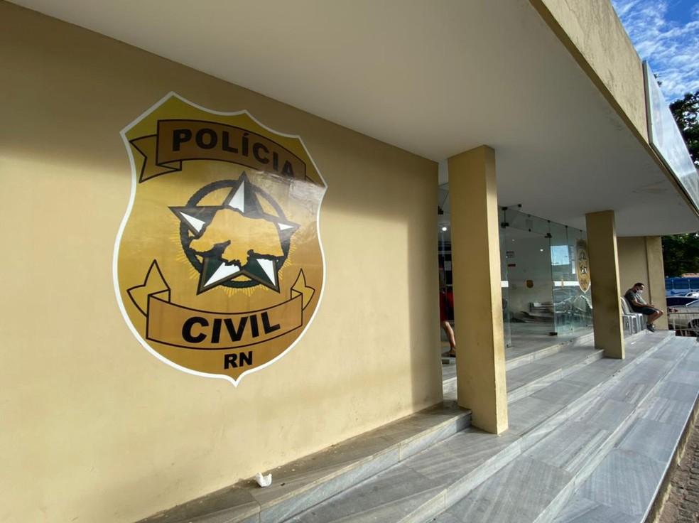 Central de Flagrantes de Natal, Polícia Civil RN — Foto: Kléber Teixeira/Inter TV Cabugi