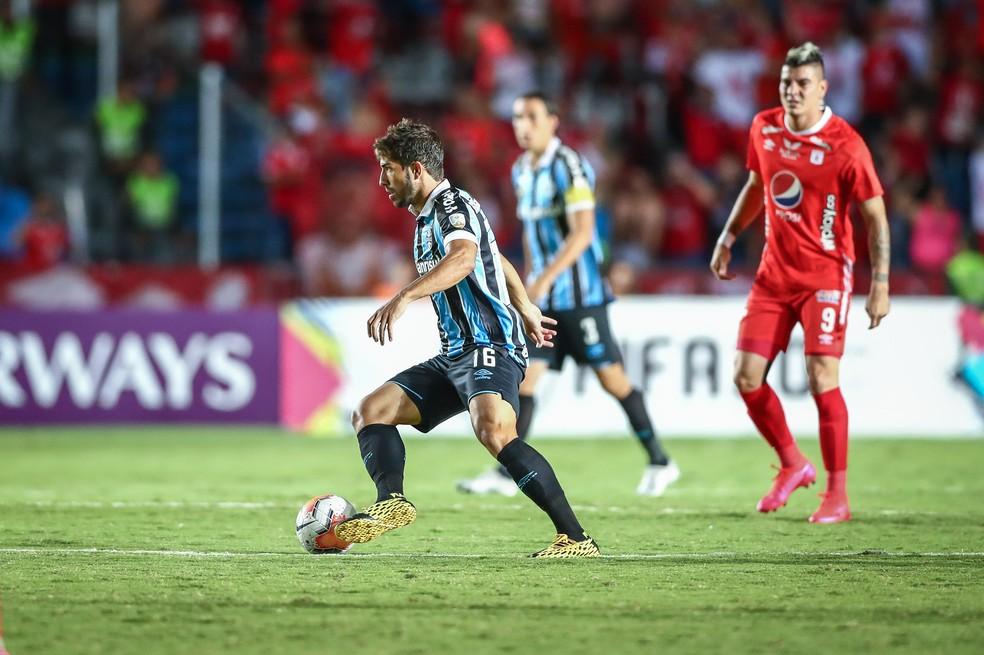 Lucas Silva, América de Cali 0x2 Grêmio, Libertadores — Foto: Lucas Uebel/DVG/Grêmio