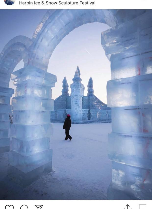 Arcos de gelo na China (Foto: Reprodução Instagram / dashy.dasha)