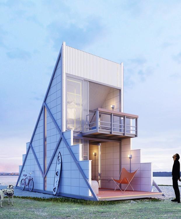A forma triangular agrega um design futurista (Foto: Behance/ Reprodução)