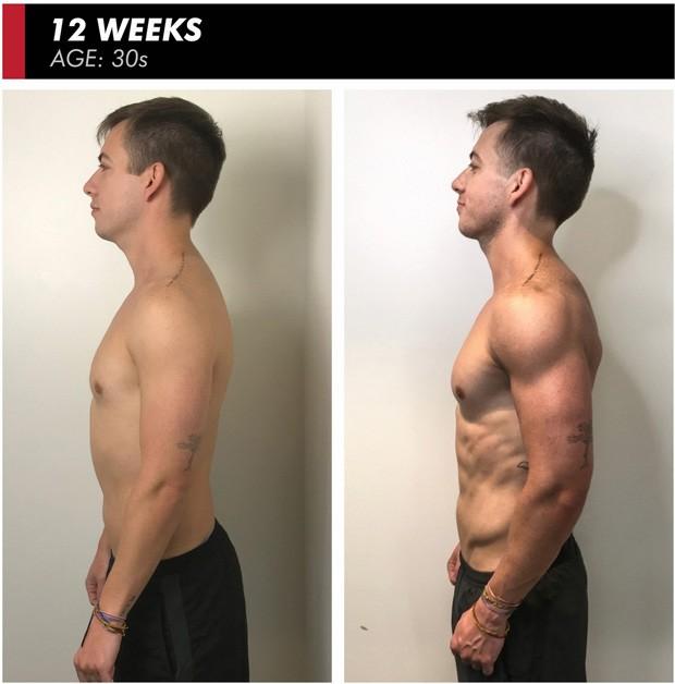 O antes e depois de Kevin McHale (Foto: Reprodução/Ultimate Performance)