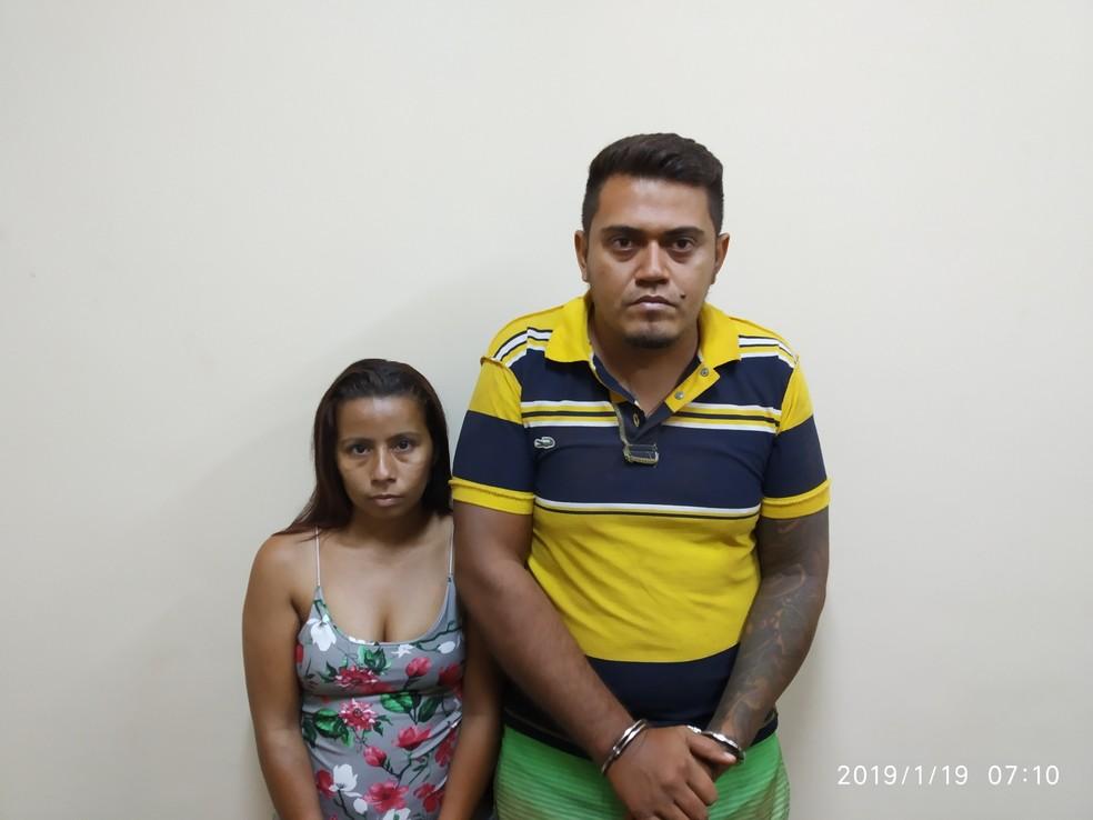 Casal preso durante operação em Alenquer — Foto: Polícia Civil de Alenquer/Divulgação