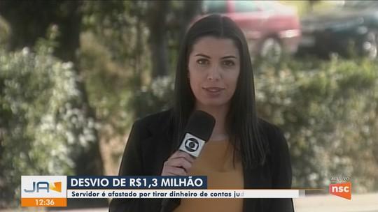 Servidor é preso suspeito de desviar mais de R$ 1,3 milhão de depósitos judiciais em Joaçaba