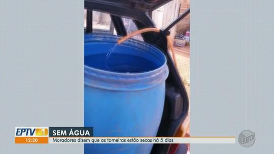 Moradores reclamam de falta d'água em diferentes bairros de Guariba, SP