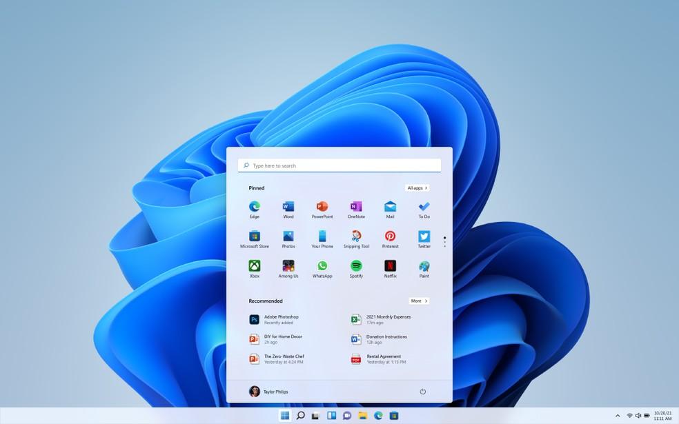 Windows 11 é o novo sistema da Microsoft — Foto: Divulgação/Microsoft