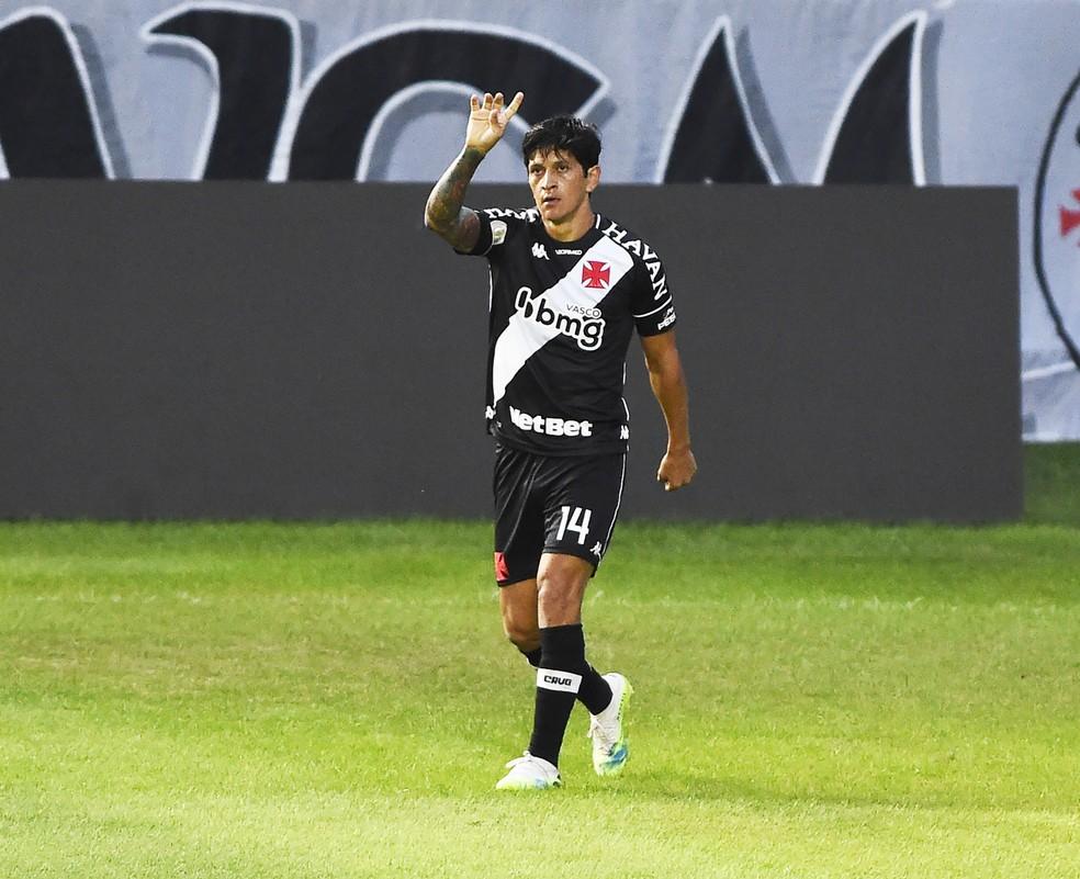 Cano comemora seu primeiro gol contra o São Paulo — Foto: André Durão