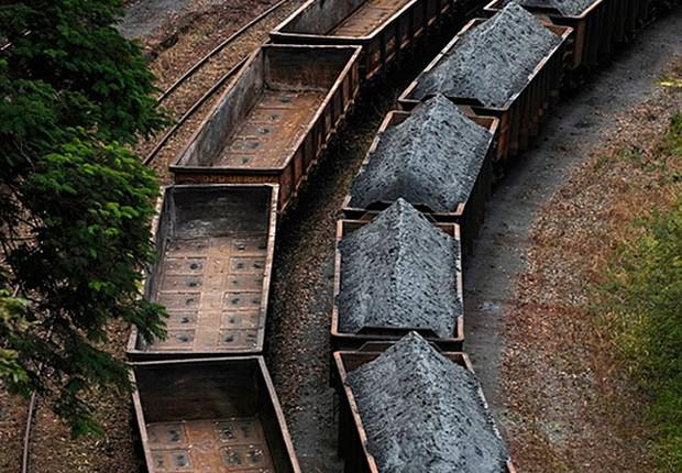 Carregamento de minério de ferro da Vale (Foto: Divulgação/Vale)