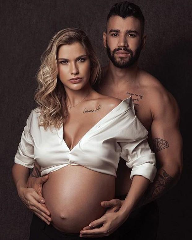 Andressa Suita e Gusttavo Lima (Foto: MansonStudio/Reprodução/Instagram)