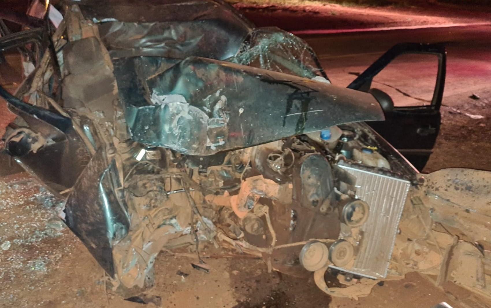 Motorista e neto ficam feridos após carro atingir cavalo na GO-462