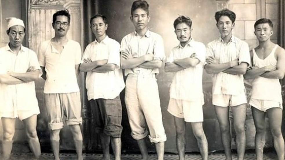 Membros do Shindo Reimei espalhavam que o Japão não havia perdido a guerra — Foto: BBC