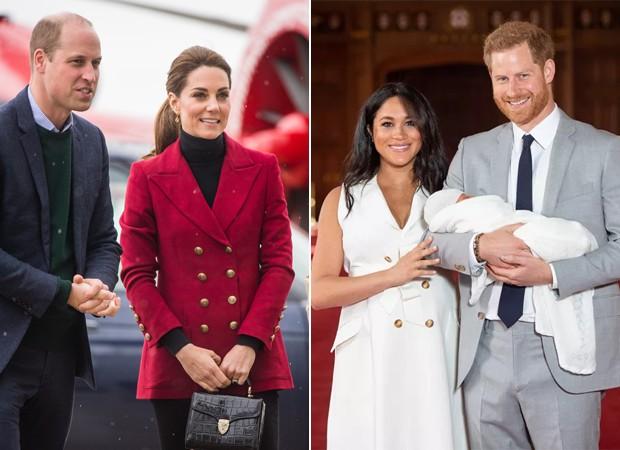 Príncipe William, Kate Middleton, Meghan Markle e o Príncipe Harry (Foto: Getty Images)