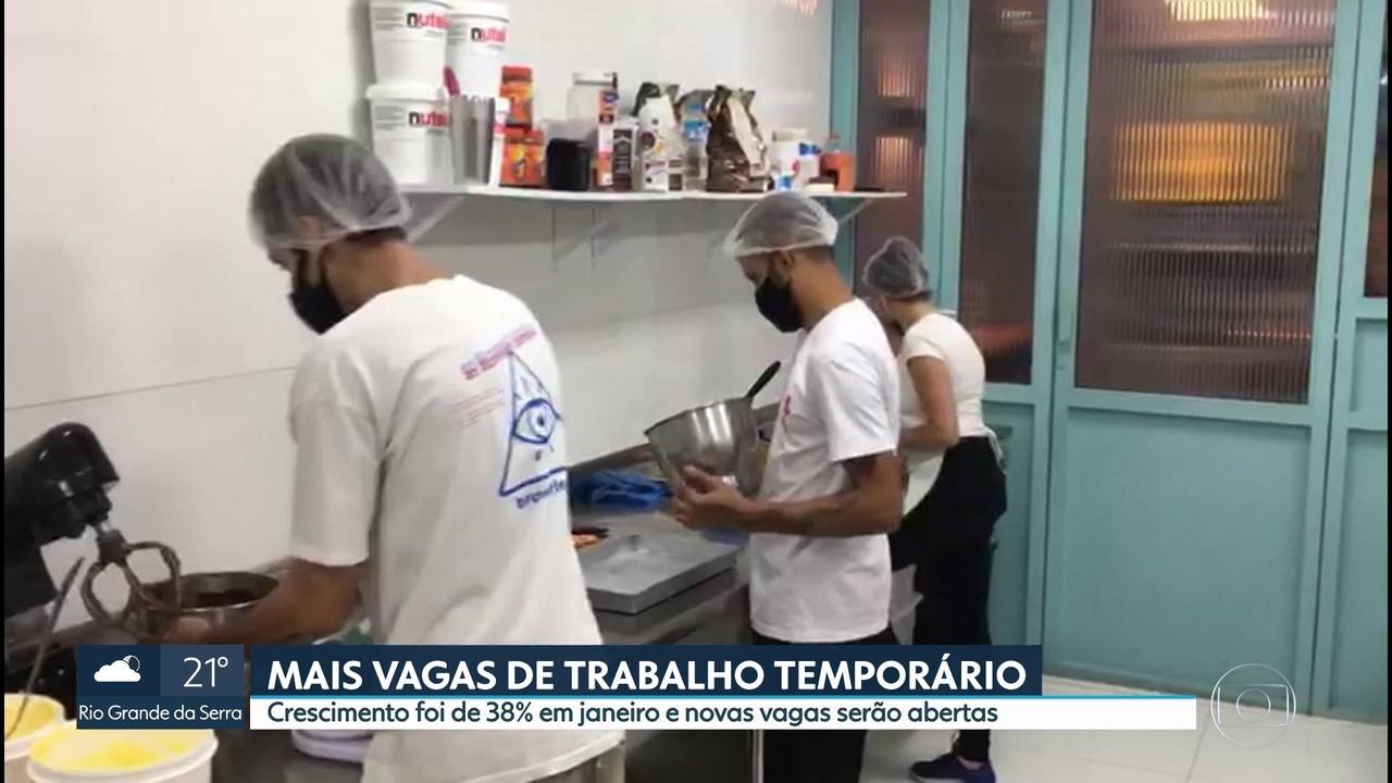 Oferta de vagas temporárias subiu 38% em janeiro