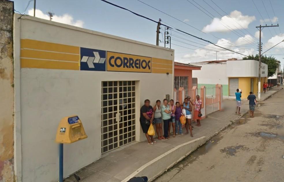 Agência dos Correios em Campo Alegre (AL) (Foto: Reprodução/ Google Street View)