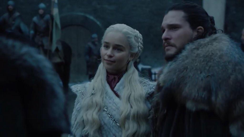 Daenerys conhecendo Sansa Stark em cena de Game of Thrones (Foto: Divulgação)