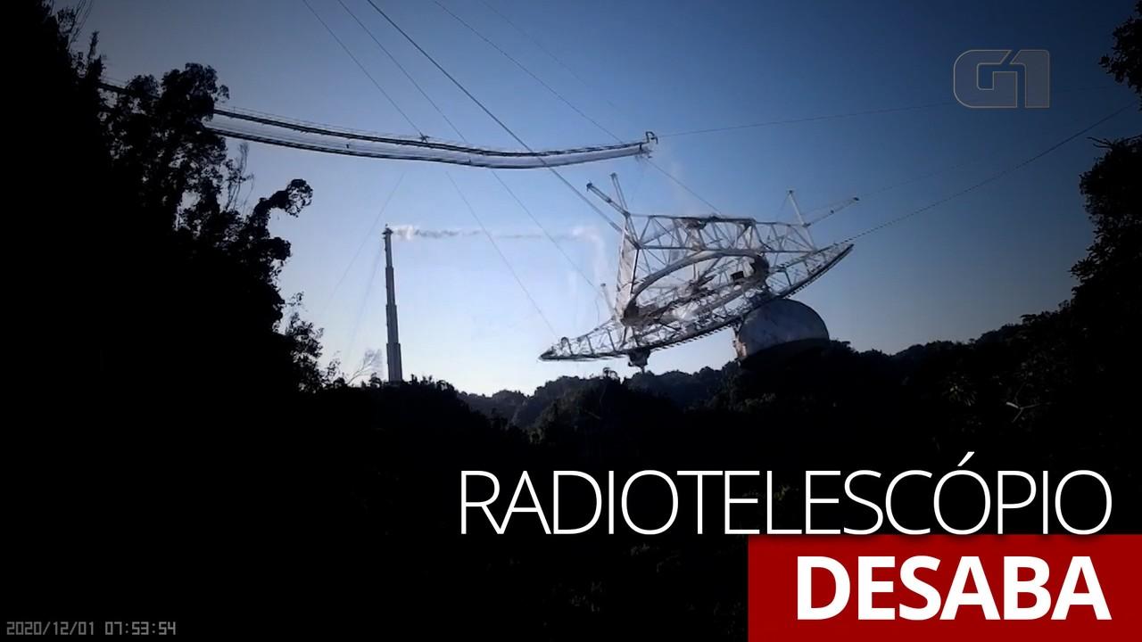 VÍDEO: Radiotelescópio de Arecibo desaba após meses de deterioração