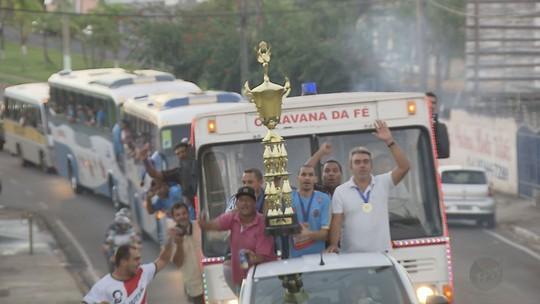 Campeões da 33ª Taça EPTV são recebidos com festa em Cajuru
