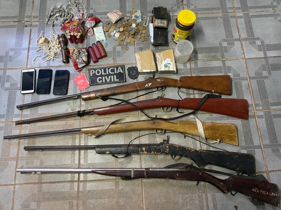 Em quatro meses, a Polícia Civil prendeu mais 1,3 mil pessoas em operações realizadas no interior do MA. — Foto: Divulgação/Polícia Civil