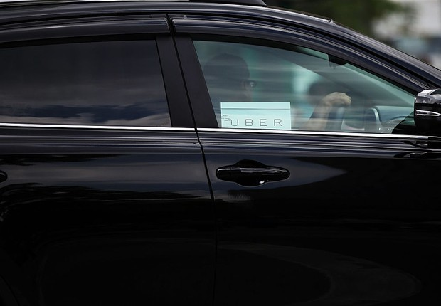 Motorista de Uber em Nova York (Foto: Spencer Platt/Getty Images)