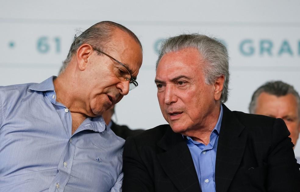 O ministro da Casa Civil, Eliseu Padilha, e o presidente Michel Temer (Foto: Beto Barata, PR)