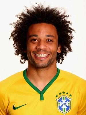 FOTO CRACHÁ Seleção brasileira - Marcelo (Foto: Agência Getty Images)